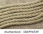 Jute Rope On Sackcloth....