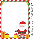 santa claus with gifts vector... | Shutterstock .eps vector #1869967177