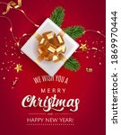 merry christmas and happy new... | Shutterstock .eps vector #1869970444