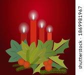 christmas arrangement with... | Shutterstock .eps vector #1869981967