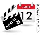 brazil calendar eps10 | Shutterstock .eps vector #187000181