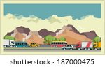 landscape outside the city  the ... | Shutterstock .eps vector #187000475