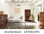 comfortable living room ... | Shutterstock . vector #187001291