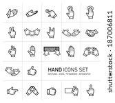 modern flat design vector hand... | Shutterstock .eps vector #187006811