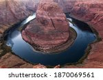 View Of The Horseshoe Bend In...