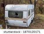 Abandoned Caravan Rv Motorhome...