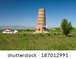 burana landscape. kyrgyzstan... | Shutterstock . vector #187012991