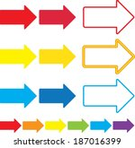 illustrated set of multicolor... | Shutterstock .eps vector #187016399