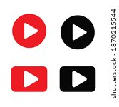 play button vector set. media... | Shutterstock .eps vector #1870215544