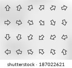 collection of arrows | Shutterstock .eps vector #187022621