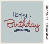 abstract happy birthday...   Shutterstock .eps vector #187023584