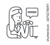 clerk concept icon  linear...   Shutterstock .eps vector #1870278097