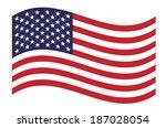 United States  Flag Waving....