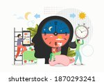human biorhythms. day and night ... | Shutterstock .eps vector #1870293241