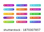 web buttons set. abstract... | Shutterstock .eps vector #1870307857