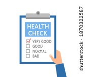 hand holding health survey... | Shutterstock .eps vector #1870322587