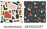 abstract cut out vector pattern.... | Shutterstock .eps vector #1870325257