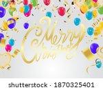 festive balloons birthday party ... | Shutterstock .eps vector #1870325401