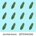 Cucumber on a blue background....