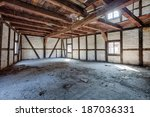 interior of an old  ruined... | Shutterstock . vector #187036331