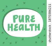 pure health. hand drawn... | Shutterstock .eps vector #1870386211