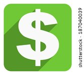 us dollar icon | Shutterstock . vector #187040039