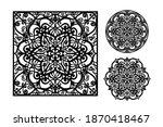 mandala flower paper cut file.... | Shutterstock .eps vector #1870418467