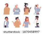 people talk by phone vector... | Shutterstock .eps vector #1870458997