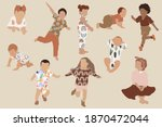 abstract babys and kids clipart ... | Shutterstock .eps vector #1870472044