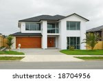 brand new show home with... | Shutterstock . vector #18704956