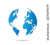 illustration of a world map...   Shutterstock .eps vector #187049579