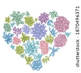 Heart Floral Design With Pastel ...