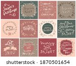 set of merry christmas and... | Shutterstock . vector #1870501654