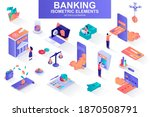 banking services bundle of... | Shutterstock .eps vector #1870508791
