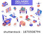 delivery service bundle of... | Shutterstock .eps vector #1870508794