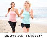 women running jogging training... | Shutterstock . vector #187051139