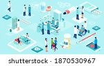 vector of a team of doctors and ... | Shutterstock .eps vector #1870530967