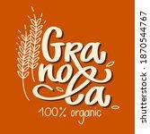 granola logo organic food... | Shutterstock .eps vector #1870544767