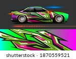 graphic designs of car wraps... | Shutterstock .eps vector #1870559521