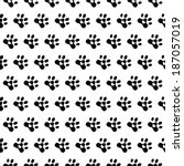 love dogs. animals paw print.... | Shutterstock .eps vector #187057019