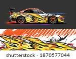 vehicle vinyl wrap design with...   Shutterstock .eps vector #1870577044
