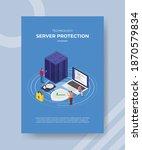 technology server protection...   Shutterstock .eps vector #1870579834