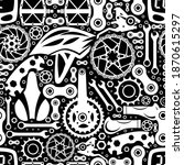 bicycle parts. seamless pattern ... | Shutterstock .eps vector #1870615297