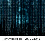 lock i can and matrix.   Shutterstock . vector #187062341