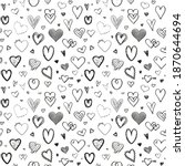 hand drawn background with... | Shutterstock . vector #1870644694