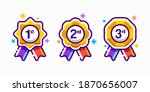 1st 2nd 3rd medal first place...   Shutterstock .eps vector #1870656007