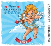 Cupid Angel With Bow And Arrow...