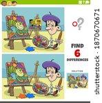 cartoon illustration of finding ... | Shutterstock .eps vector #1870670671