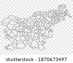 blank map of slovenia....