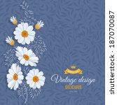 Romantic Floral Background Wit...